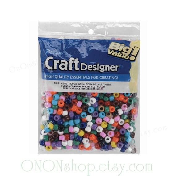 Pony Beads 6mmx9mm 720//pkg-opaque Light Blue