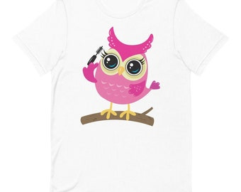 Night Owl Cute Animal Day of Dead Mens Shirt Short Sleeve T-Shirt Casual Shirt for Men Teenagers