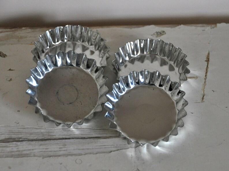 French Vintage Cake Tins  Mini Baking Pans set of 4