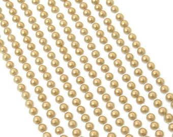 200 Self Adhesive Pearls 6mm Beautiful Small Round Pink Pearl Stick On Adhesive Beads Embellishment