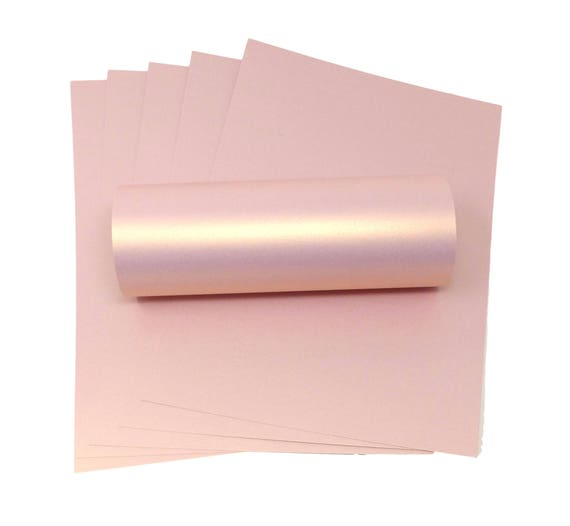 100 A4 Paper Ivory With Pink Pearlescent Shimmer Paper 100gsm Suitable for Inkjet and Laser Printers