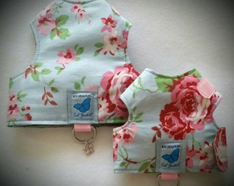 "Escape proof when sized and fitted correctly Cath Kidston   ""Butterfly Cat Jackets"" walking harness, jacket, holster, vest"