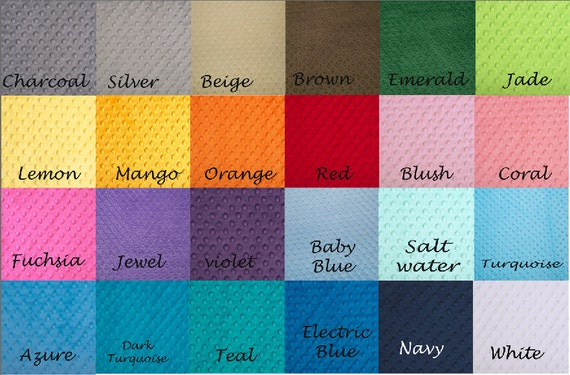 Lovey Minky Blanket Charcoal Gray and Fuchsia Cuddle Dimple Choose Colors Personalized Baby Blanket