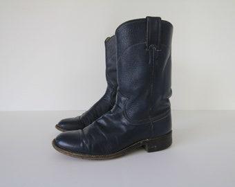 b3e55b80985 Blue cowboy boots | Etsy