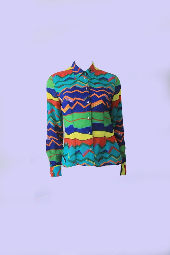 Versace  Bold Abstract Medusa Head Button Down Y2k