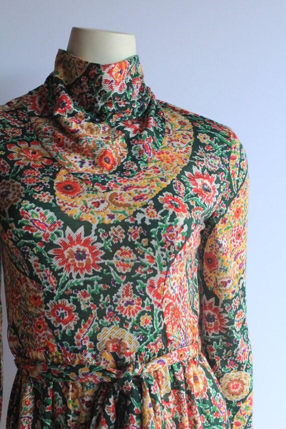60's Vintage Eleanor Brenner High Neck Long Sleev… - image 2