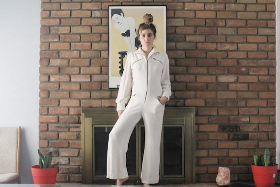 Neiman Marcus YSL Style 70's White Terry Cloth Jum