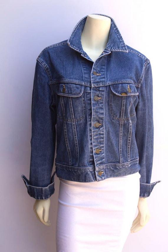 80's Vintage Indigo Lee Denim Jacket