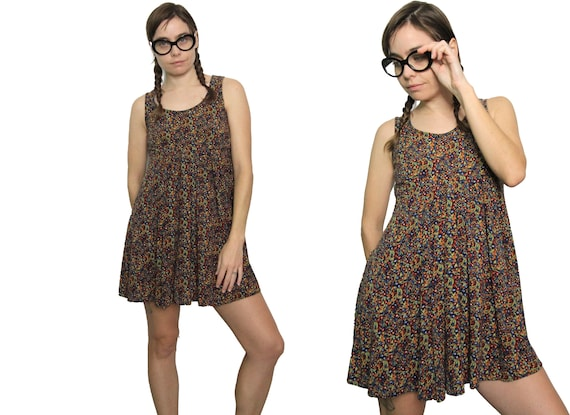 90s Floral Rayon Mini Baby Doll 'All That Jazz' Dr