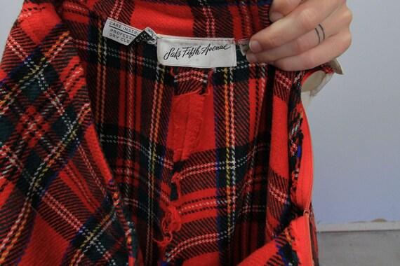 70's Wide Leg Tartan Plaid Saks 5th Avenue Wool P… - image 7