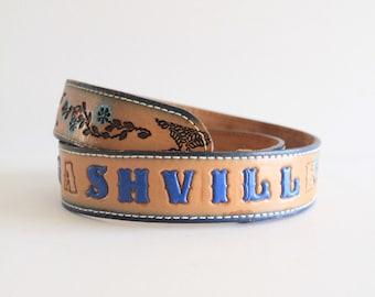 Caldwell Tooled 'Nashville' Leather Belt
