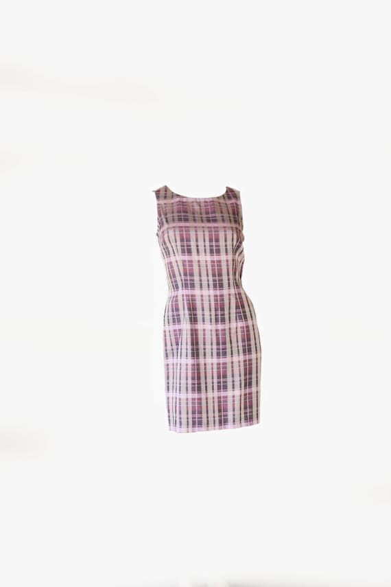 Early 90's Purple Gradient Sleeveless Mini Dress