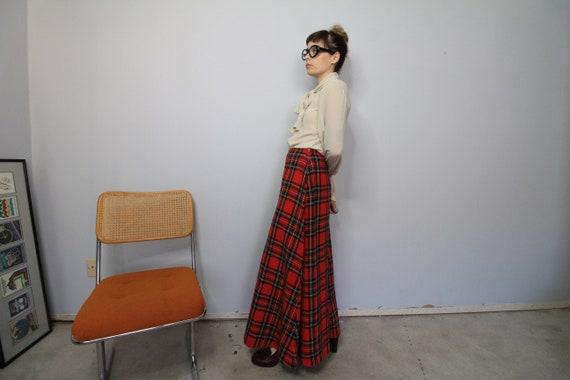 70's Wide Leg Tartan Plaid Saks 5th Avenue Wool P… - image 3