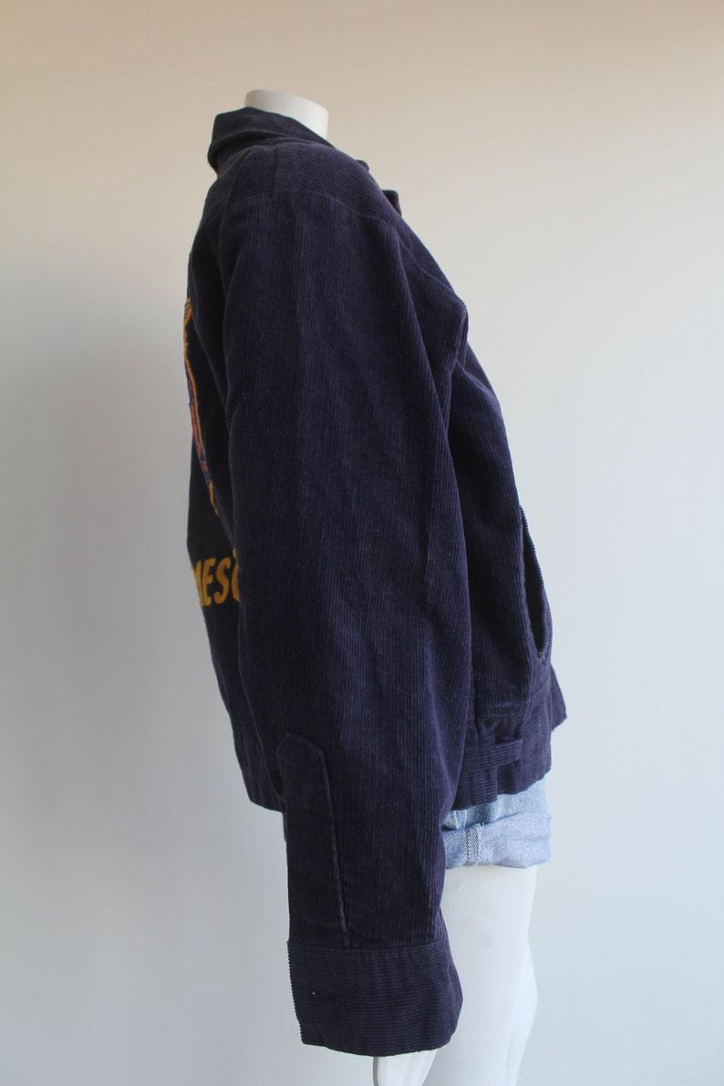 70/'s Vintage Navy Blue Corduroy Agricultural Jacket