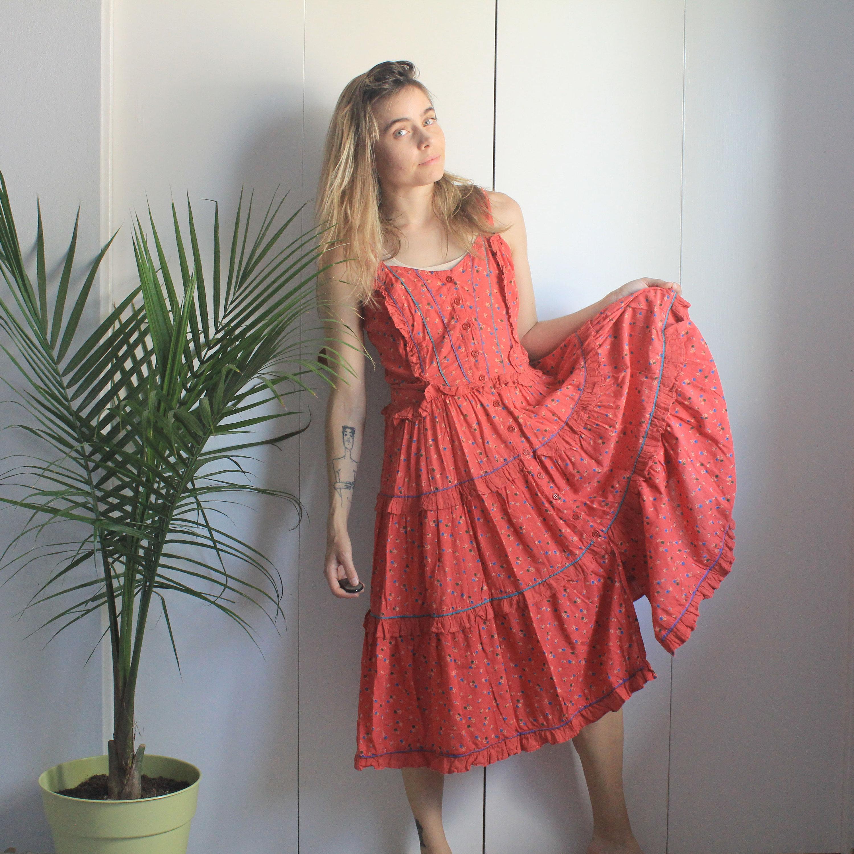 1c7ad1b321881 Petite Pink Floral Frill Wrap Maxi Dress