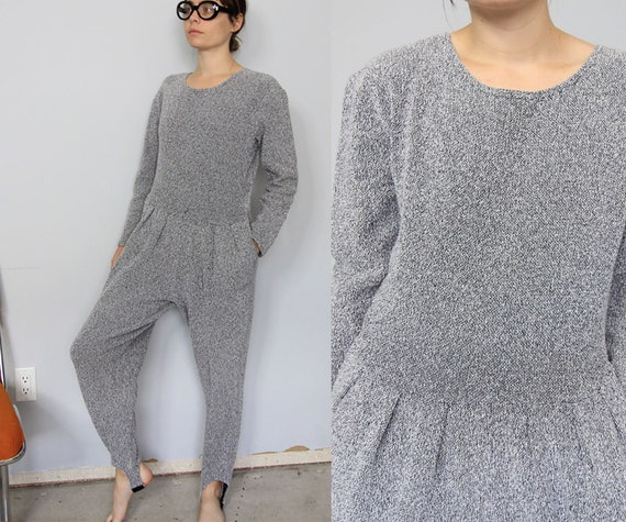 Early 90's Grey Harem Style Stir-Up Jumpsuit