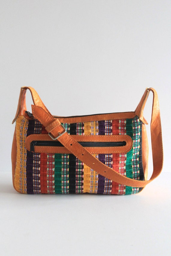 Lovely 80's Vintage Mexican Leather + Multi Color