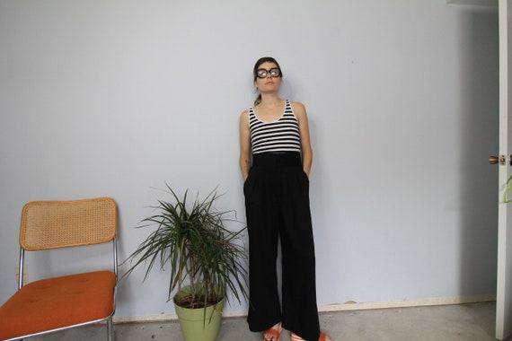 80's Wide Leg Black High Waist Wide Leg Pants - image 3