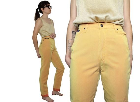 Elcectré Yellow/Orange Twill Chambray 90s High Wai