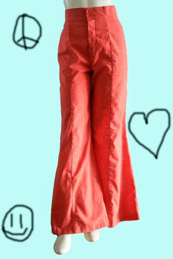 Fritzi of California 70's Vintage Pale Red Chambra