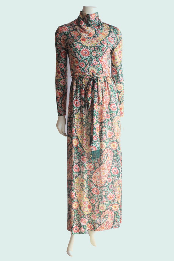 60's Vintage Eleanor Brenner High Neck Long Sleev… - image 1