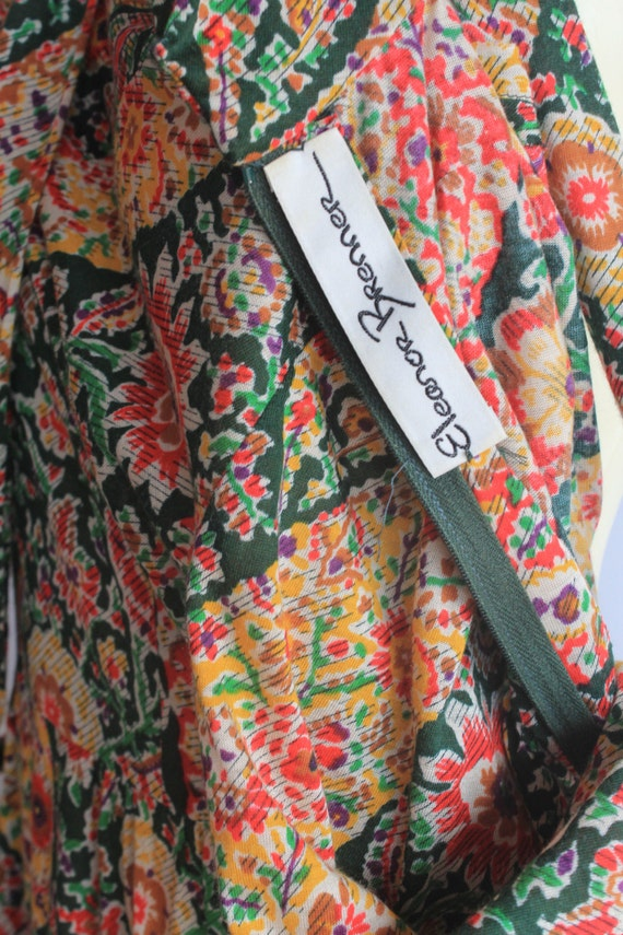 60's Vintage Eleanor Brenner High Neck Long Sleev… - image 4