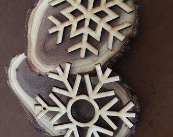 Two Rustic Snowflakes