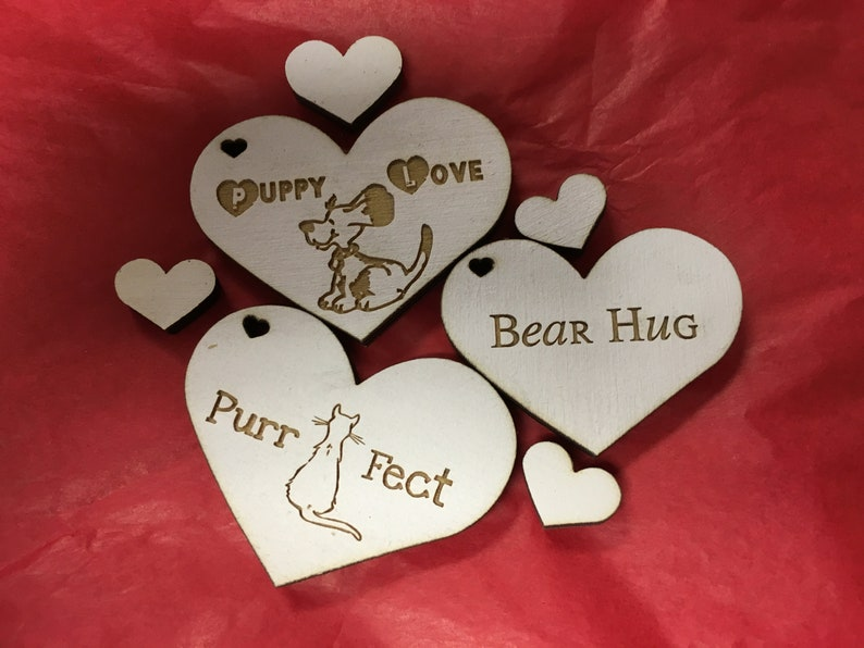 Pet Lover Wooden Hearts Set