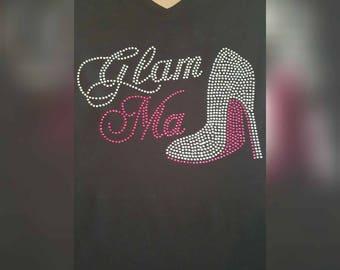 Glam Ma Rhinestone T-shirt