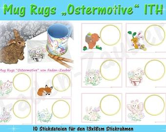 Mug Rugs Easter motifs for the 13 x 18 cm frame
