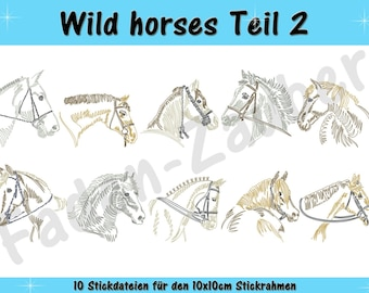 Wild horses part 2 for the border 10x10cm