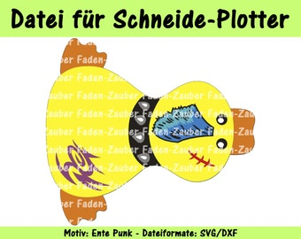 Plotter file duck punk svg dxf