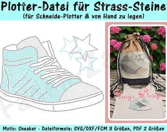 Sneaker Strass-Design - für Plotter und von Hand