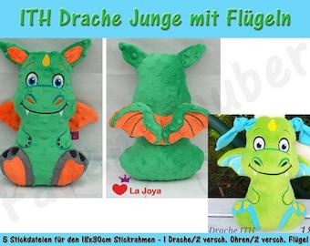 Dragon Boy ITH Size XL for the 18 x 30 cm frame