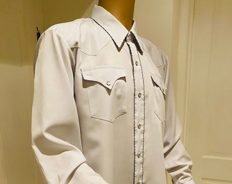 LOVELY Vintage 1960's Mens Western Style Shirt, Made In USA By 'H Bar C' - Great!!