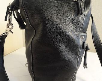 8877dd3a9d V BEAUTIFUL Black Leather  Tignanello  Handbag - Shoulder Or Crossbody -  Lovely!!