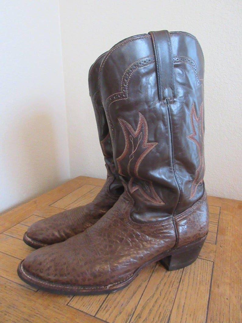 b0b1230654c Mens Vintage Cowboy Boots Made In USA By 'Tony Lama' - UK Size 9, USA Size  10M - Lovely!!