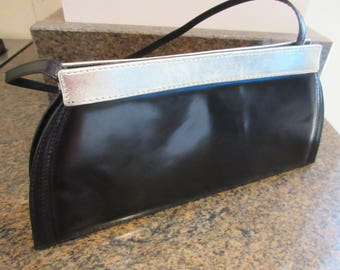 Vintage Italian 1980's 'Jaques Vert' Handbag Evening/Clutch Bag With Detachable Strap - Lovely!!