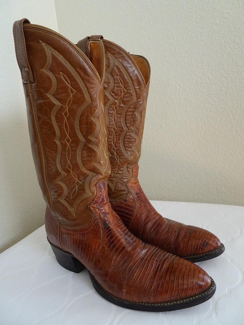 Chisholm/' Handmade Cowboy Boots Made In USA UK Size 8.5 V BEAUTIFUL Vintage /'J