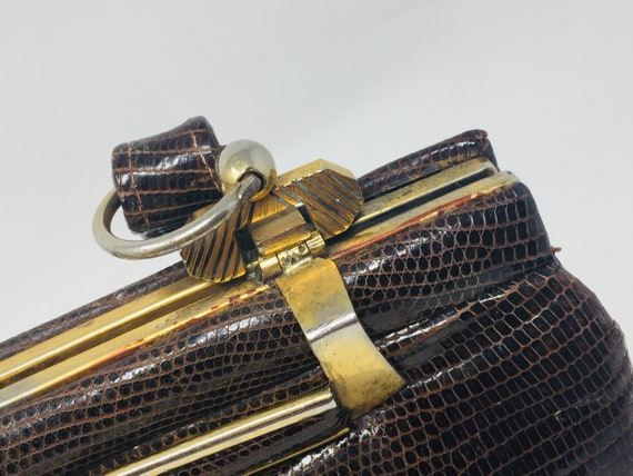 BEAUTIFUL Vintage 1940's Snakeskin Handbag - Love… - image 5
