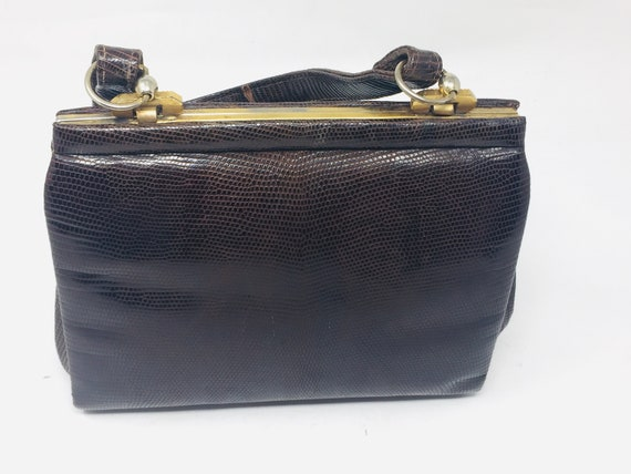 BEAUTIFUL Vintage 1940's Snakeskin Handbag - Love… - image 1