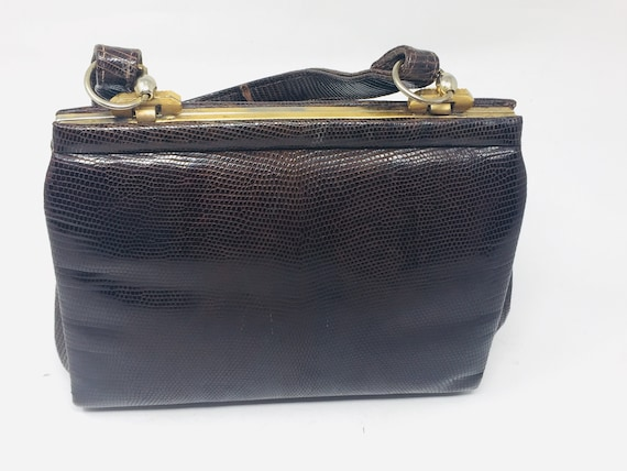 BEAUTIFUL Vintage 1940's Snakeskin Handbag - Lovel
