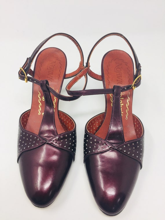 Burgundy Patent Leather Shoes Made
