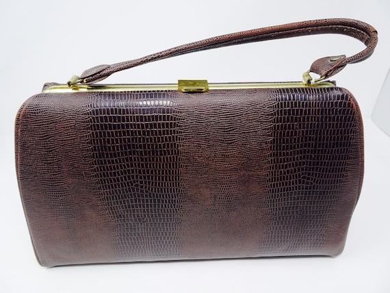 Vintage 1940's Snakeskin Handbag Made In The USA B