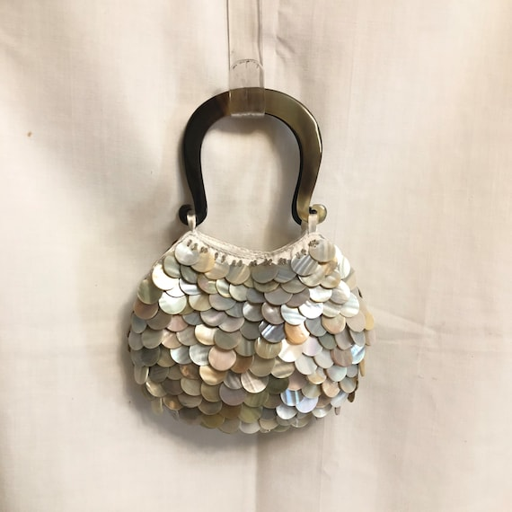 Mother of Pearl Mini Bag | Iridescent Purse | Pear