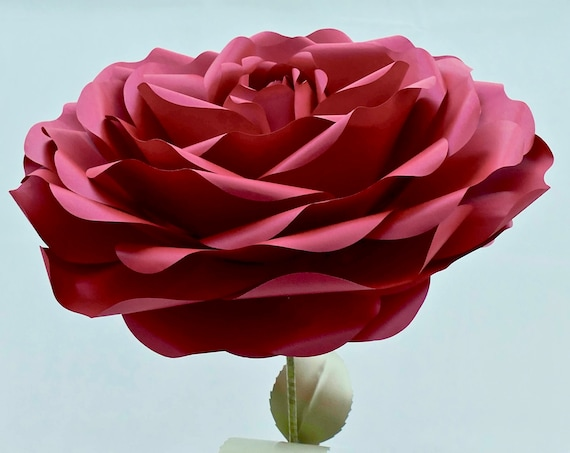 "60cm (24"") Colossal Paper Rose with 100cm Stem"