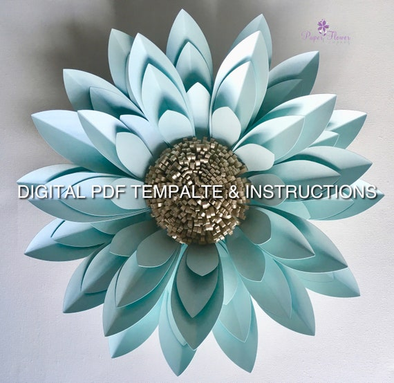 PDF Template, 'Eleanor' Flower Digital PDF Template and Instructions