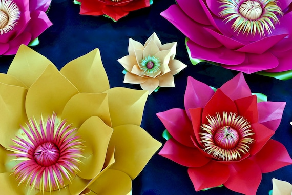 40cm 3D Lotus Flower Centrepiece Flower, Table Decoration, Chinese New Year Accessory