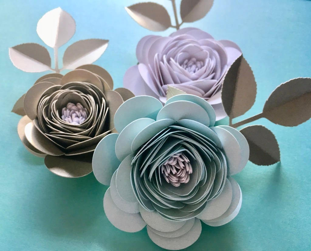 Handcrafted Corsagehair Clip Made From Pearlescent Card And Paper