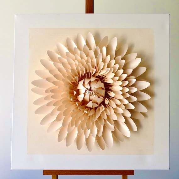 50cm x 50cm Canvas Structured and Tactile Wall Art Perfect to Add Some Texture to a Minimalist Decor